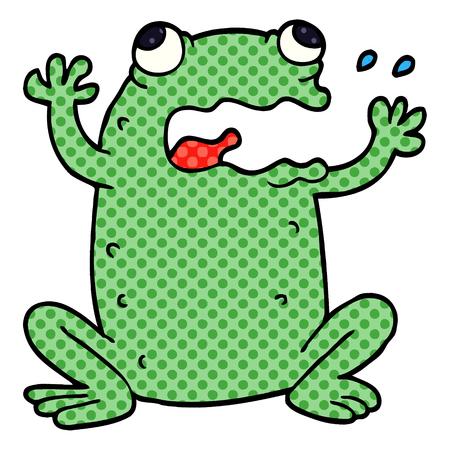 cartoon doodle crazy frog  イラスト・ベクター素材