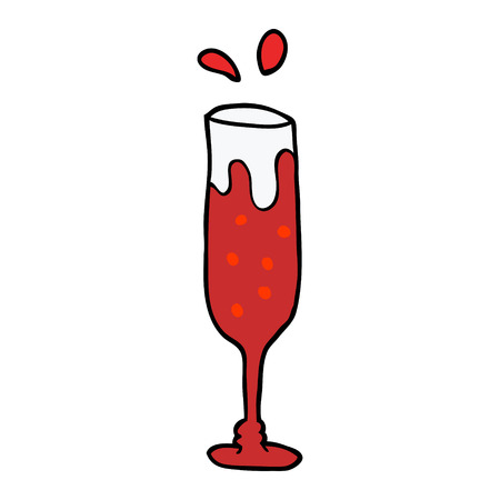 cartoon doodle champagne