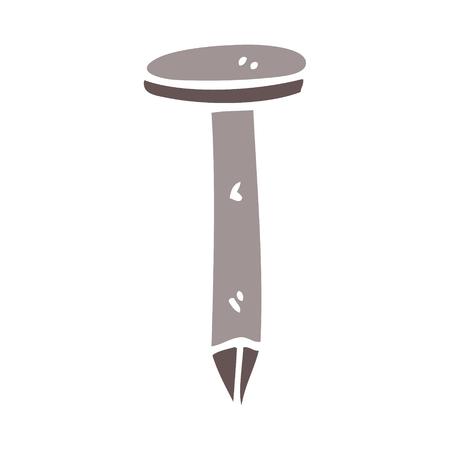 cartoon doodle iron nail