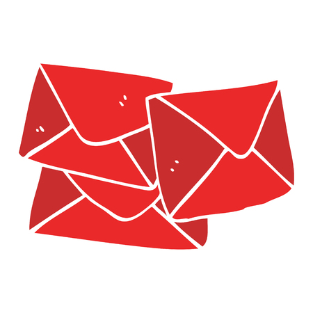 cartoon doodle letter