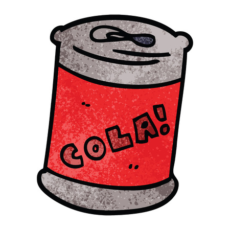 cartoon doodle fizzy drinks can