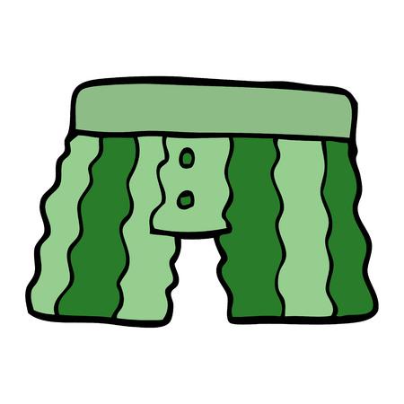 cartoon doodle underwear