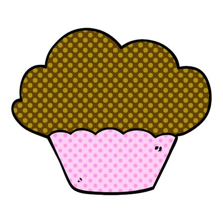 cartoon doodle cupcake  イラスト・ベクター素材
