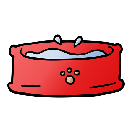 cartoon doodle pet bowl