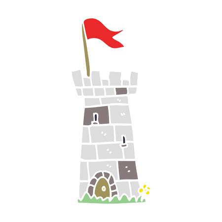 tour du château de dessin animé doodle
