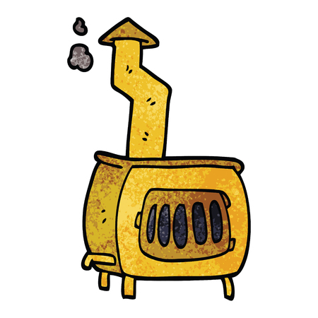 cartoon doodle old wood burner  イラスト・ベクター素材