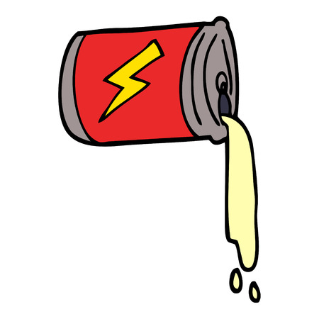 cartoon doodle pouring soda can