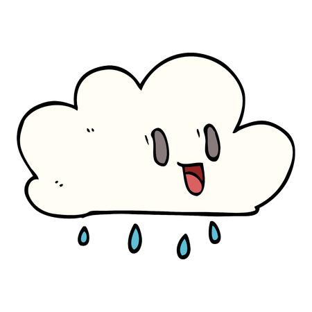 cartoon doodle expressive weather cloud Illustration
