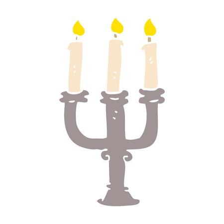 cartoon doodle spooky candles Zdjęcie Seryjne - 110925487