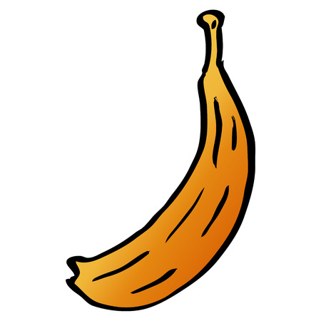 cartoon doodle banana