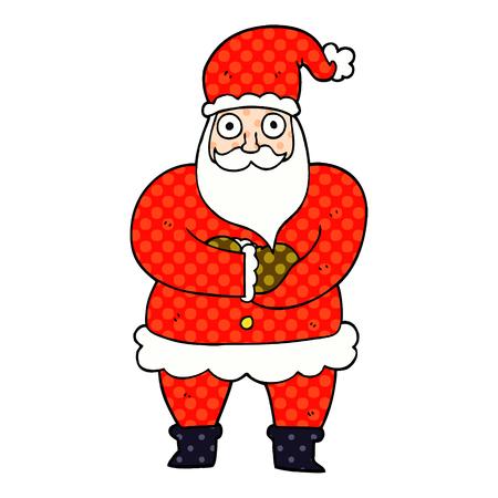 cartoon doodle father christmas