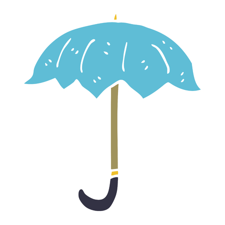 cartoon doodle open umbrella