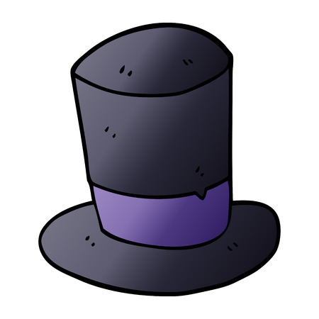 cartoon doodle top hat Banque d'images - 110907686