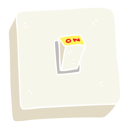 flat color illustration of light switch Ilustração