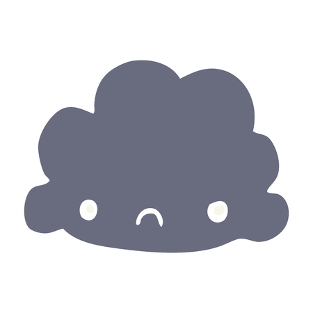flat color style cartoon cloud