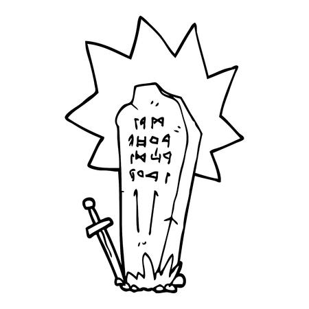 line drawing cartoon heros grave