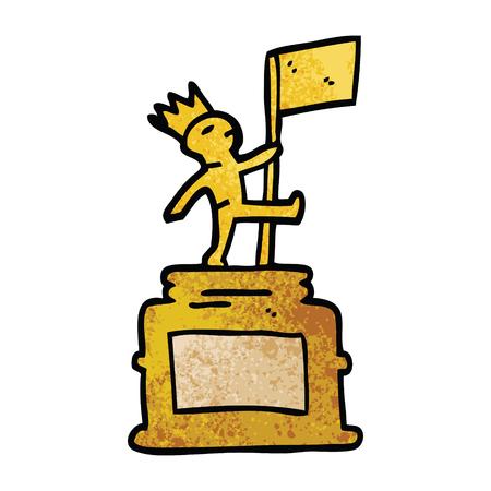cartoon doodle monument statue