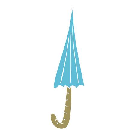 cartoon doodle umbrella