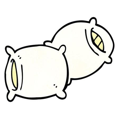 cuscino scarabocchio dei cartoni animati
