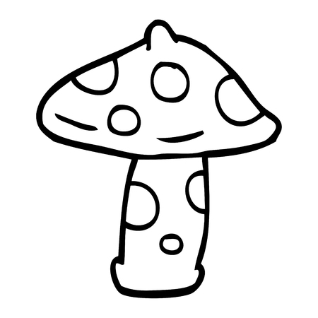 line drawing cartoon toadstool Stock Vector - 110925745