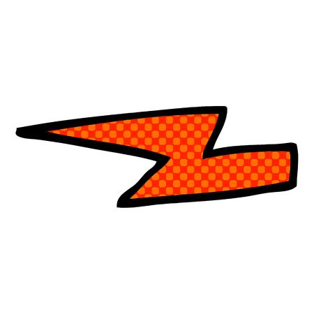 cartoon doodle  lightening bolts