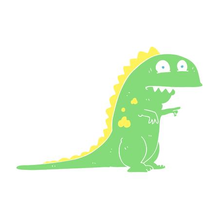 flat color illustration of dinosaur Illustration