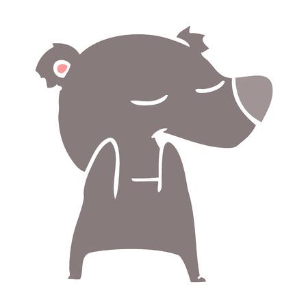 flat color style cartoon bear 스톡 콘텐츠 - 110915135