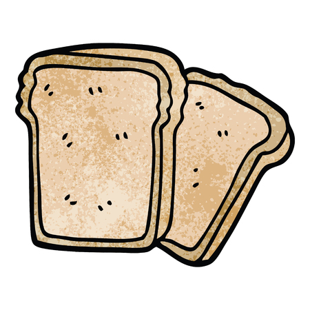cartoon doodle slices of bread 向量圖像