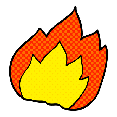 cartoon doodle fire  イラスト・ベクター素材