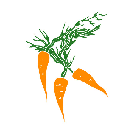 flat color style cartoon carrots
