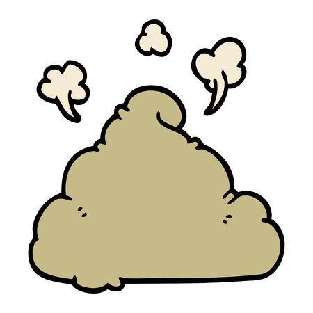 cartoon doodle poop Illustration