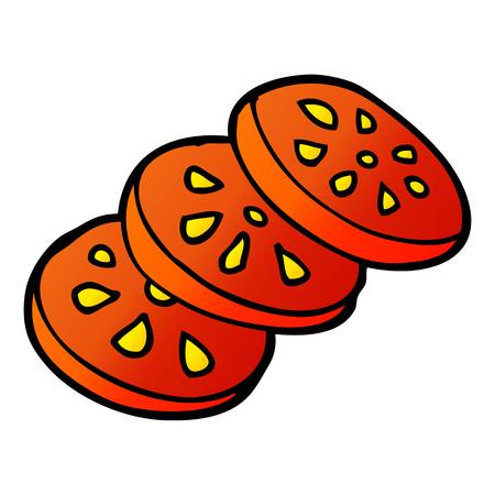 cartoon doodle sliced tomato Banco de Imagens - 110917373