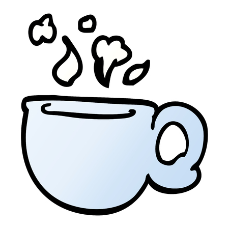 cartoon doodle steaming cup