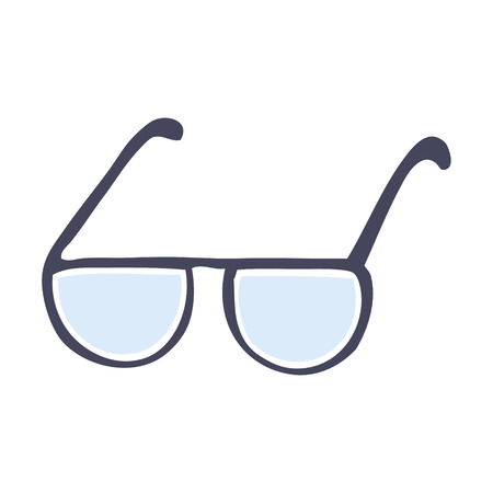 cartoon doodle glasses Illustration