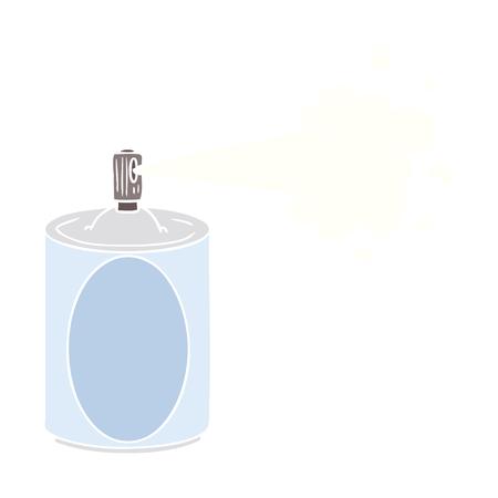 flat color style cartoon aerosol spray can Illustration