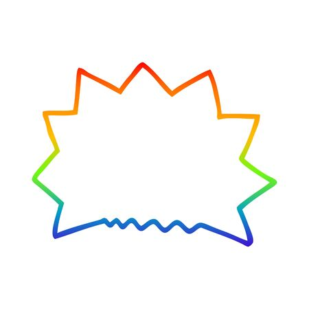rainbow gradient line drawing of a cartoon big  bang explosion 일러스트