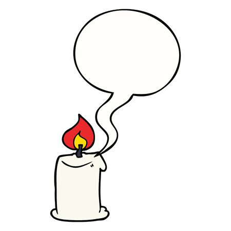 cartoon candle with speech bubble