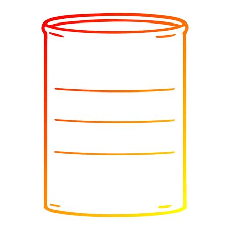 warm gradient line drawing of a cartoon oil drum Reklamní fotografie - 128116051
