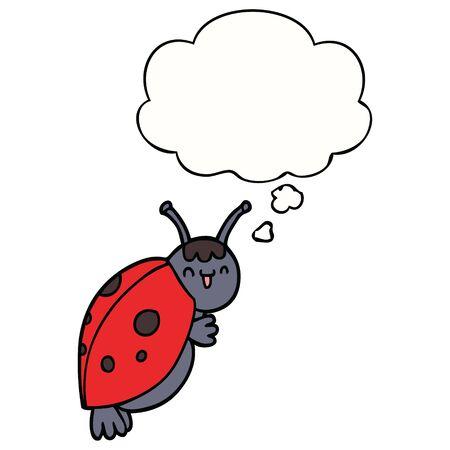 cute cartoon ladybug with thought bubble Foto de archivo - 128116216