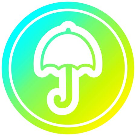 open umbrella icon with cool gradient finish