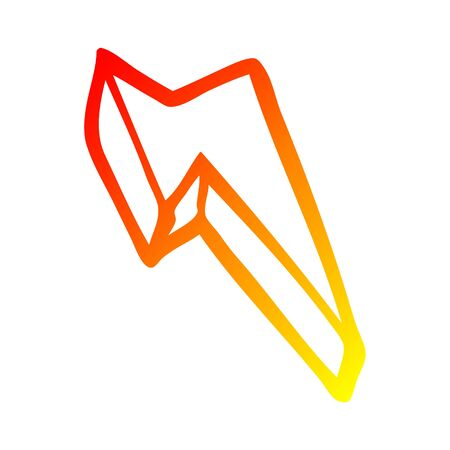 warm gradient line drawing of a cartoon decorative lightning bolt 向量圖像