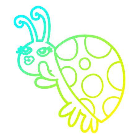 cold gradient line drawing of a cartoon ladybug Foto de archivo - 128319631