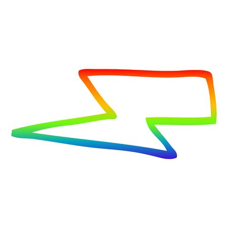 rainbow gradient line drawing of a cartoon  lightening bolts Ilustração