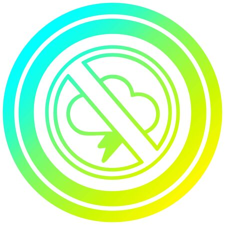 no storms circular icon with cool gradient finish