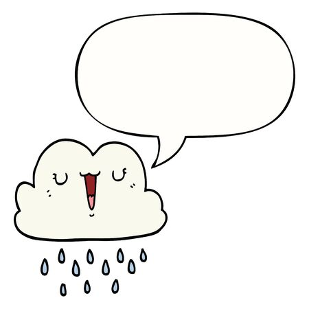 cartoon storm cloud with speech bubble Ilustração
