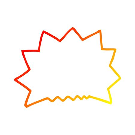 warm gradient line drawing of a cartoon big  bang explosion
