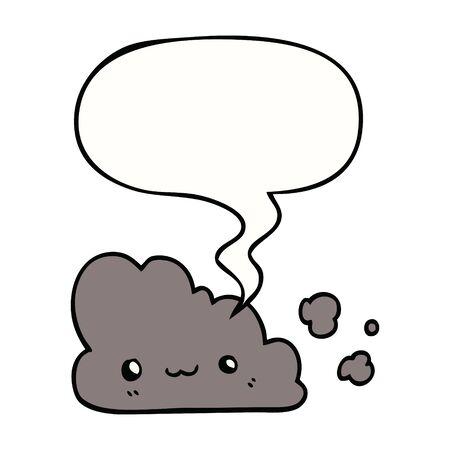 cute cartoon cloud with speech bubble