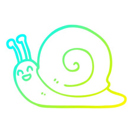 cold gradient line drawing of a cartoon snail Foto de archivo - 128330858