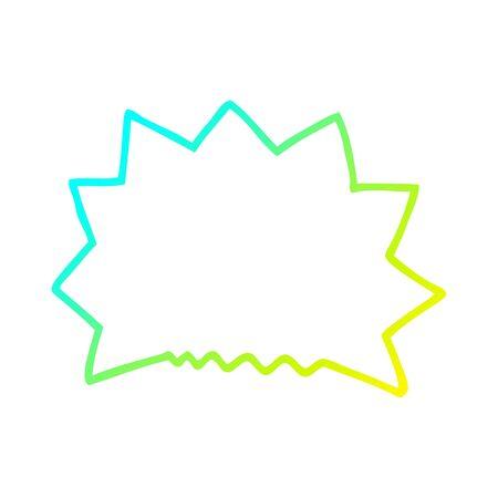 cold gradient line drawing of a cartoon big  bang explosion Ilustração