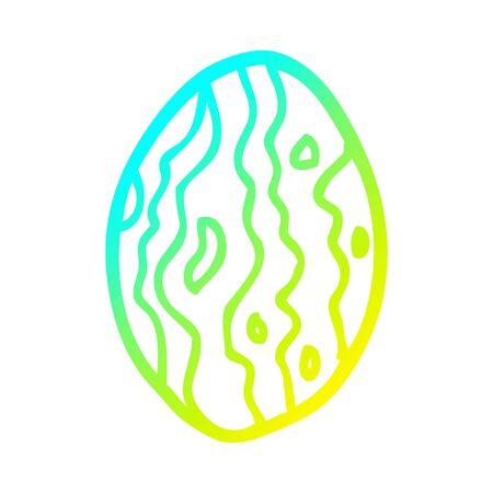 cold gradient line drawing of a cartoon almond nut Standard-Bild - 128596686